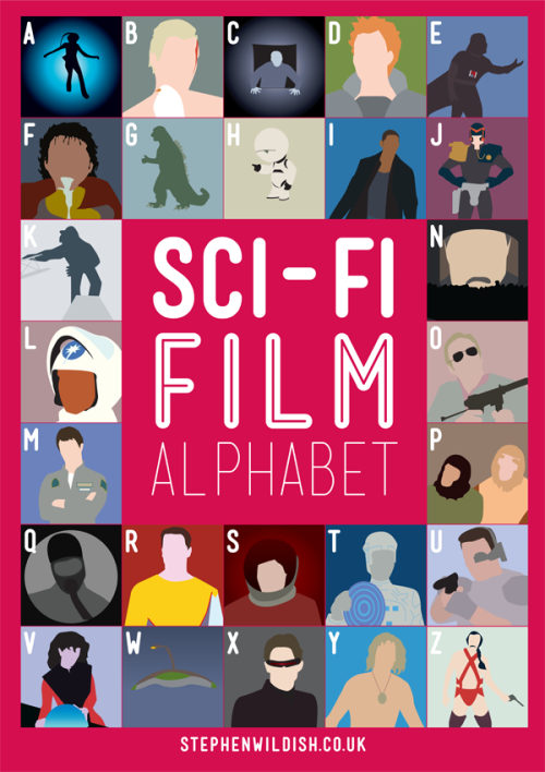laughingsquid:  Sci-Fi Film Alphabet, Poster That Quizzes Your Sci-Fi Movie Knowledge