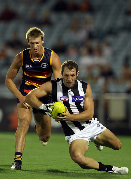 The Collingwood v Adelaide nab cup game.