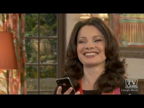 Fran Drescher and her iphone