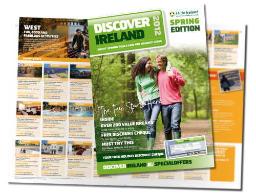 "New Issue of Discover Ireland Special Offers Keep an eye out in your favourite paper this weekend for the latest issue of our regular ""Special Offers"" Magazine for Discover Ireland. Start planning your spring staycation! You can read the new issue here, search the special offers site here, and follow the promotional fun and frolics on Facebook here."