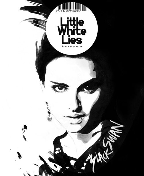Created a magazine cover for Little Black Lies as part of a competition brief for a uni project. We had to do a cover for one of five movies: Black Swan, Super 8, Tree of Life, Drive and Tinker, Tailor, Soldier, Spy and I chose Black swan as it appealed the most to me ideas wise. I wanted to create an image that illustrated the contrast between herself and her dark side so I came up with this. The final image was created by merging together separate layers I had created traditionally with ink on paper, scanning them into the computer and bringing them together digitally. It was quite interesting working this way for a change as it enabled me to be more free.