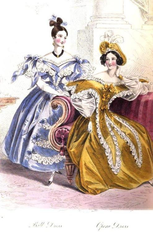 La Belle Assemblee, Ball and Opera Dresses, April 1834.