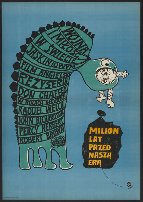 Polish poster for One Million Years BC (1966)