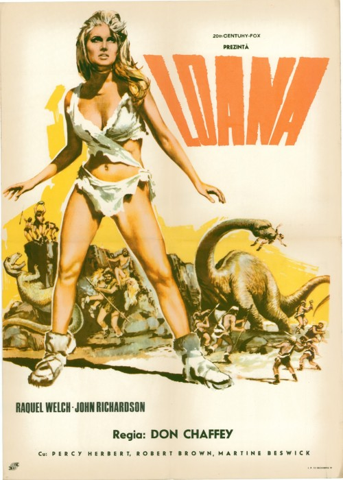 Romanian poster for One Million Years BC (1966)