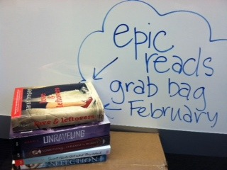 Epic Reads Grab Bag February! Check out the titles we gave away—want to win your own? Enter this month's giveaway! Epic Reads on Facebook