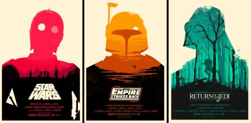 These have to be some of the coolest Star Wars posters I have ever seen.