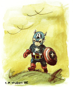 Captain America Water Color Test
