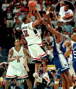 Rip Hamilton led UConn to its first NCAA title against Duke in 1999