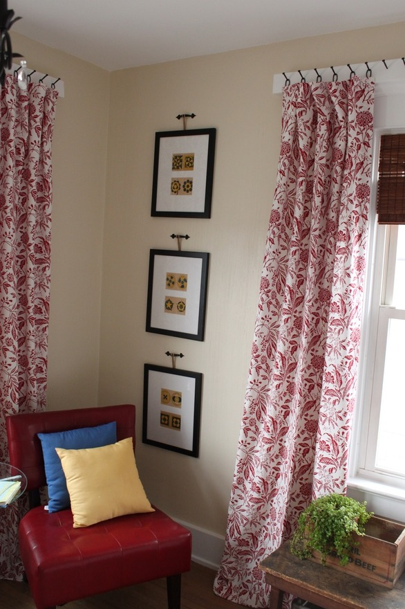 Unconventional way to hang curtains in an apartment. http://www.apartmenttherapy.com/spare-the-rod-unconventional-ways-to-hang-curtains-167181  I think I need to look into that because my bedroom curtains are being hung up with tacks. >.>