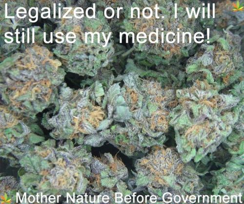 Legalized or not, I will still use my medicine…!!!