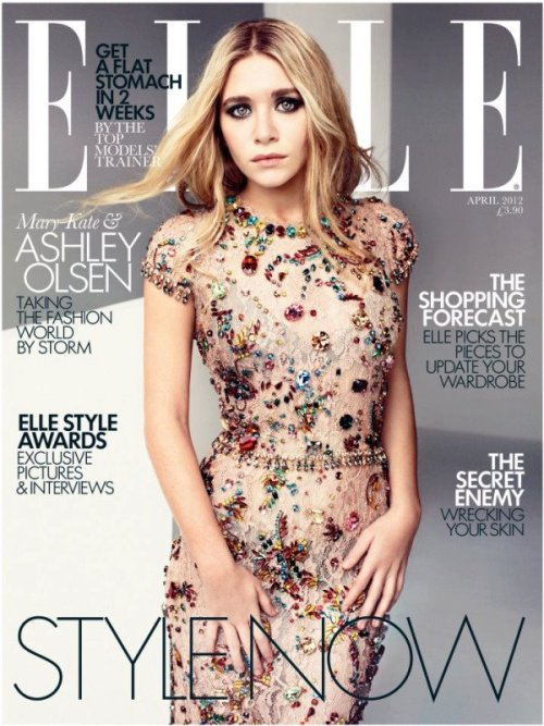 Ashley Olsen covers April's Elle UK in Dolce&Gabbana