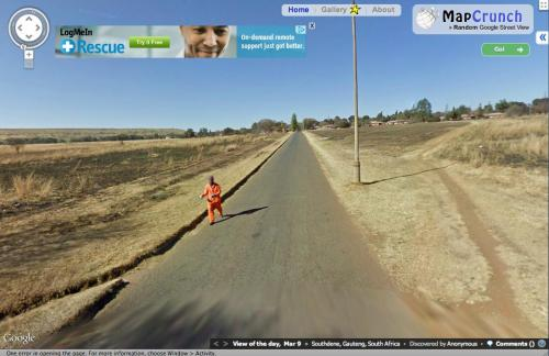 So I found an escaped convict on Street View.