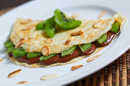 skinnyfoodielife:  Kiwi and nutella crepes