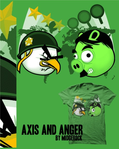 """Axis and Anger"" by midgerock Mashup of Angry Birds and the classic board game Axis and Allies."