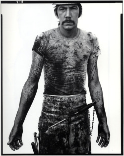 quesofrito:  Richard Avedon, Blue Cloud Wright, slaughterhouse worker, Omaha, Nebraska, 1979