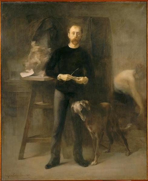 Eugène CarrièreLouis-Henri Devillez In His Studio1887 (via androphilia)