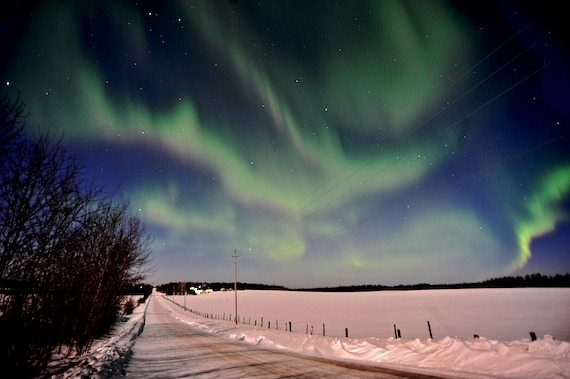 THe solar storm really produced great northern lights in Dryden, Ontario. (via GALLERY: Stunning Aurora Borealis display lights up skies, March 8 | The Dryden Observer)