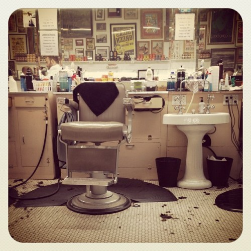 Waiting to get a haircut (Taken with Instagram at Avenue Barber Shop)