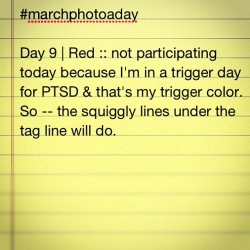 #marchphotoaday Day 8 | red :: not playing today (Taken with instagram)