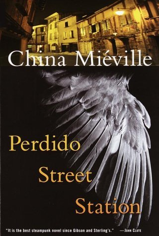 Perdido Street Station(2000) by China Mieville  Beneath the towering bleached ribs of a dead, ancient beast lies New Crobuzon, a squalid city where humans, Re-mades, and arcane races live in perpetual fear of Parliament and its brutal militia. The air and rivers are thick with factory pollutants and the strange effluents of alchemy, and the ghettos contain a vast mix of workers, artists, spies, junkies, and whores. In New Crobuzon, the unsavory deal is stranger to none—not even to Isaac, a brilliant scientist with a penchant for Crisis Theory.Isaac has spent a lifetime quietly carrying out his unique research. But when a half-bird, half-human creature known as the Garuda comes to him from afar, Isaac is faced with challenges he has never before fathomed. Though the Garuda's request is scientifically daunting, Isaac is sparked by his own curiosity and an uncanny reverence for this curious stranger.While Isaac's experiments for the Garuda turn into an obsession, one of his lab specimens demands attention: a brilliantly colored caterpillar that feeds on nothing but a hallucinatory drug and grows larger—and more consuming—by the day. What finally emerges from the silken cocoon will permeate every fiber of New Crobuzon—and not even the Ambassador of Hell will challenge the malignant terror it invokes… A magnificent fantasy rife with scientific splendor, magical intrigue, and wonderfully realized characters, told in a storytelling style in which Charles Dickens meets Neal Stephenson, Perdido Street Station offers an eerie, voluptuously crafted world that will plumb the depths of every reader's imagination.  Available on Amazon