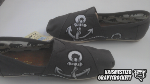 [CUSTOM TOMS] Anchor, By Kris MestizO