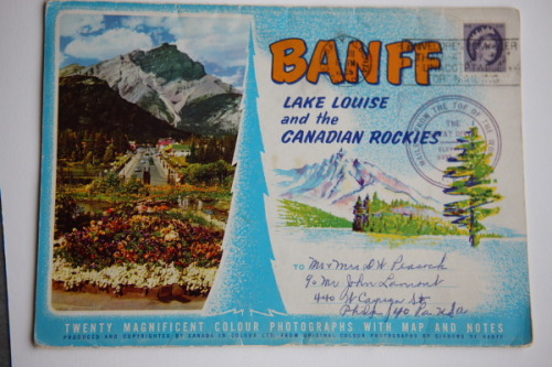 Banff! Banff is beautiful. Banff is where my sister & I went an extraordinary hike in frigid glacial conditions wearing our underwear on our faces for protection.