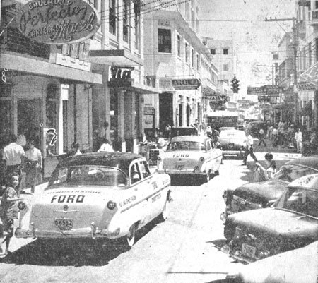 St Blas street in Barranquilla, there's a lot of ford 54 at that time.