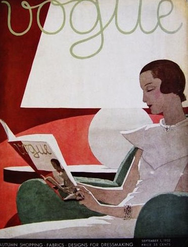 1930s Vogue cover…very post-modern!