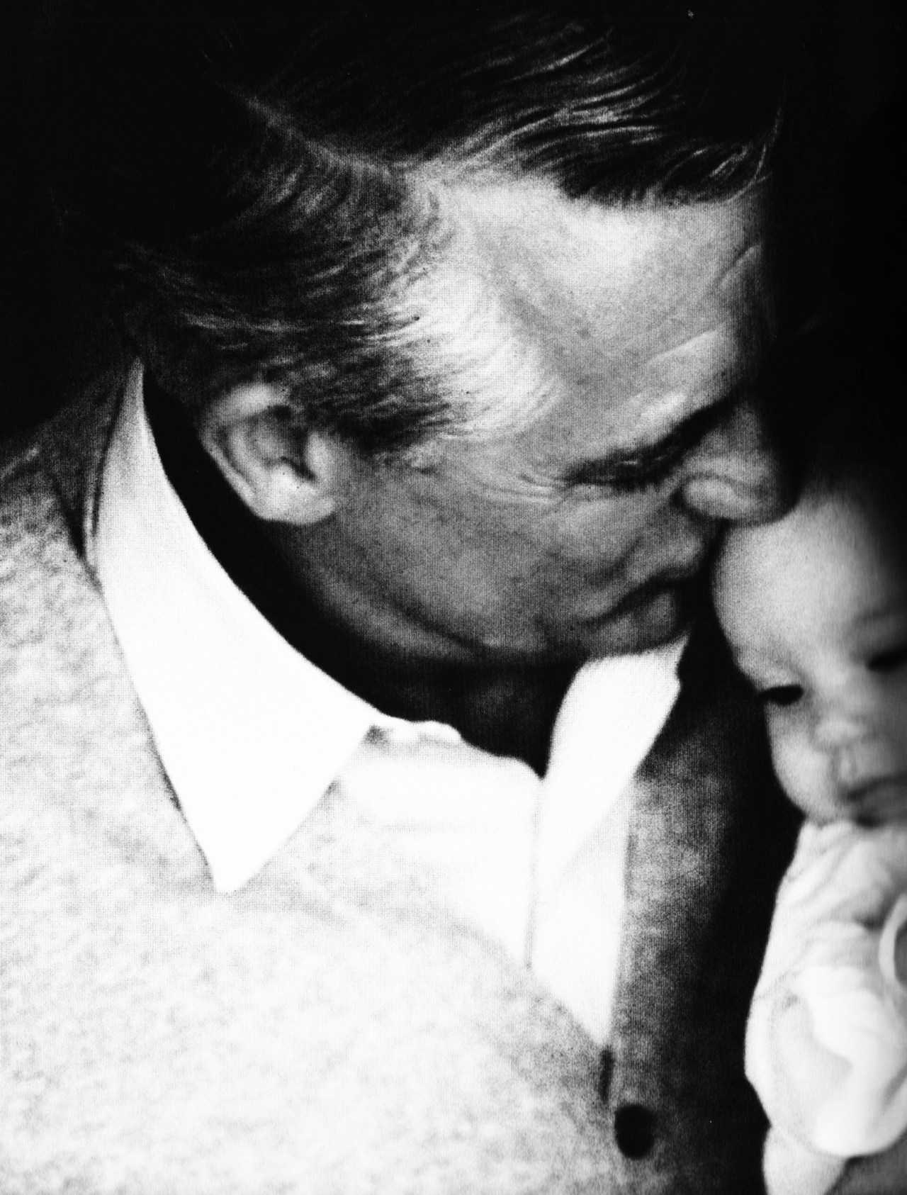 Cary Grant with his daughter Jennifer, 1966.