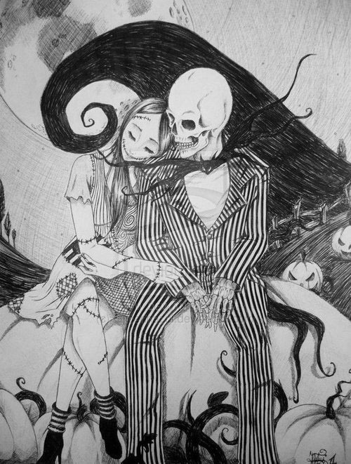 bella-de-amor:  i love jack and sally more than anyone else does. really, come look at my apartment. :)
