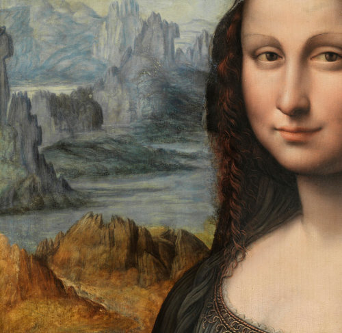peril:  A detail of the nearly conserved Leonardo da Vinci pupil's take of the Mona Lisa - Prado museum, Madrid | Photograph: Museo Nacional del Pradio