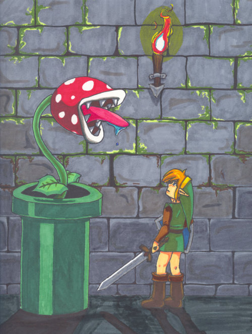 fuckyeahclassiclink:  Piranha Plant by ~Bluevampress