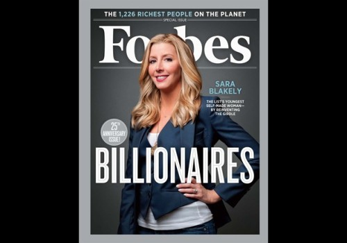 Undercover Billionaire: Sara Blakely Joins The Rich List Thanks To Spanx Sara Blakely was 29 when she invested her entire life savings, $5,000, trying to come up with something flattering to wear under her white slacks…. Since then, Blakely has taken Spanx from a one-product wonder sold out of her Atlanta apartment to a billion-dollar powerhouse with just under $250 million in annual revenues and net profit margins estimated at 20%. She owns 100% of the private company, has never advertised and never taken outside investment. Blakely turned 41 in February, making her the youngest female self-made billionaire in the world.
