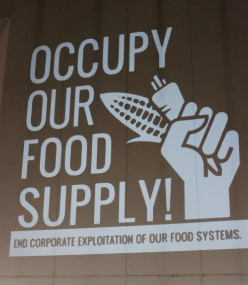 Occupy Our Food Supply! Projection in Charlotte, North Carolina!