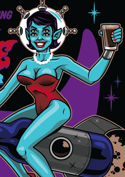I finished designing my first beer label! Here's a sneak peek at Pipeworks Brewing Company's upcoming bottle art! Follow Harebrained on Facebook!