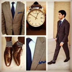 thedapplomats:  #wiwt suit #HugoBoss shirt #BrooksBrothers tie #Nordstrom shoes #Santoni watch #Burberry pocket square #ThomasPink socks #Jcrew #menswear #fashion (Taken with Instagram at Nordstrom - Tysons Corner Center)