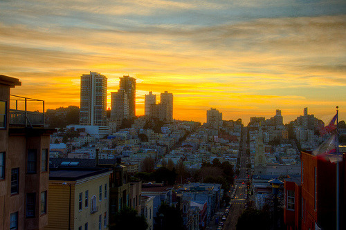 Russian Hill Sunset (by tobyharriman)