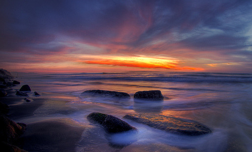 Four Rock Sunset Ocean Beach (by tobyharriman)