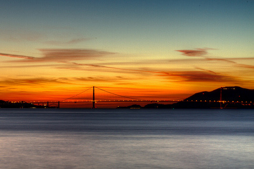 Golden Gate Bridge Sunset (by tobyharriman)