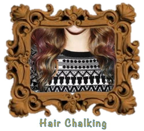 Hair Chalking Encouraged by the season? Update your  lady locks or Transform your Ombre temporarily with this Spring's new trend.  Hair Chalking If you haven't heard of hair chalking, here's the deal: you wet your strands, rub chalk all over them and then heat style to lock in the color. It's down and dirty and probably doesn't smell awesome but it looks pretty cool. And you can wash it out on Sunday night before returning to work which is, well, sensible.