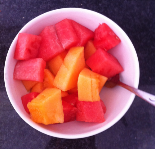 Breakfast, Rockmelon and Watermelon