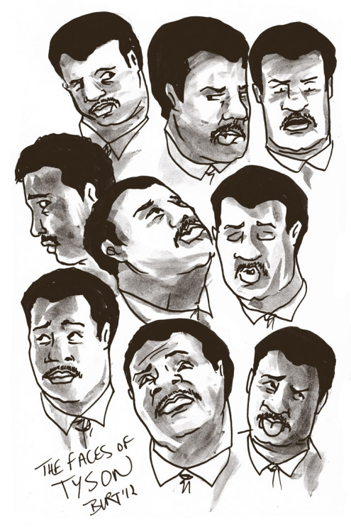 The many faces of Neil deGrasse Tyson, astrophysicist. Done for drawedgoods!