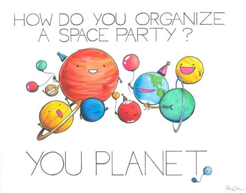 insta-grammar:  Those are the cutest little planets. Poor little Pluto didn't get an invite apparently.