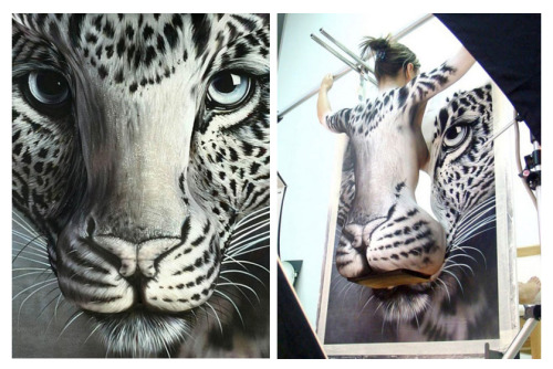 White Leopard: Now this what i call becoming your art.