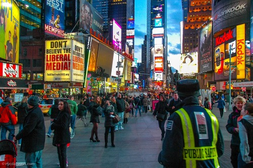 nydaily:  Friday evening at Times Square
