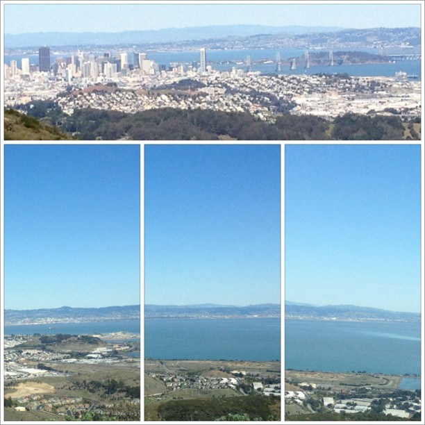 A view from the top….. #Sf #Peninsula #Mountain #Hill #Peak #bayarea #Frisco #firstdirt #teambackhand #Water #Sky  (Taken with instagram)