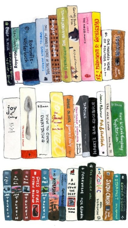 be-colourful:  Books!