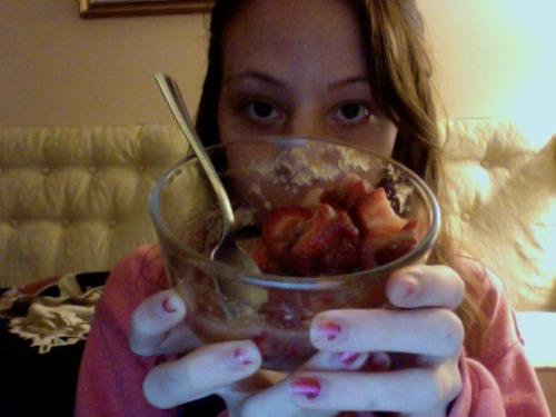 "Day 9- (strawberries are) RED. i feel like wilson from ""home improvement""."