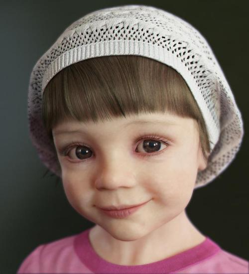 Isn't she gorgeous? Her father (Denis Tolkishevsky) modelled it with 3ds max, VRay Mudbox and Photoshop. I'm so in love with 3d modelling right now. It's on my list of things to learn, after what I'm doing at the moment, I just can't wait.