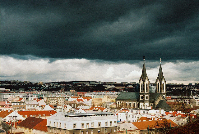 | ♕ |  evil sky - Prague  | by © narisovana